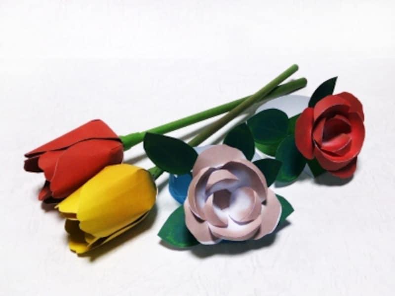 ペーパークラフト花