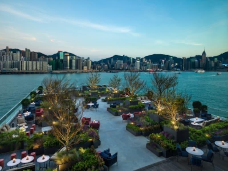 香港島を見渡せる