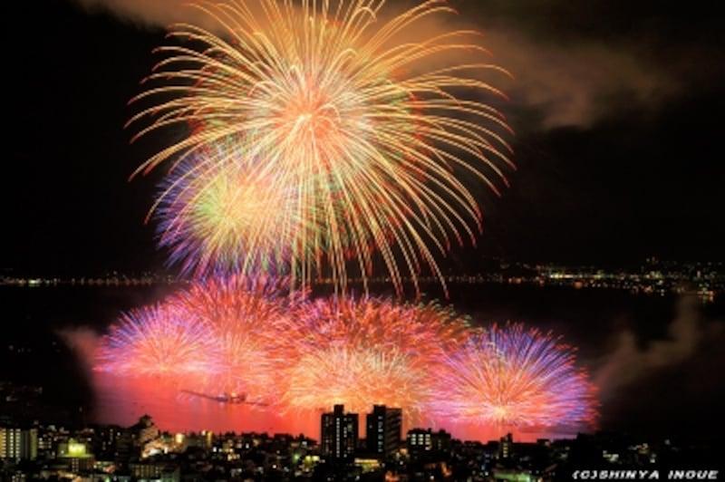 諏訪湖の花火