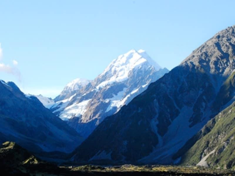 3000m級の山々が連なるマウントクック