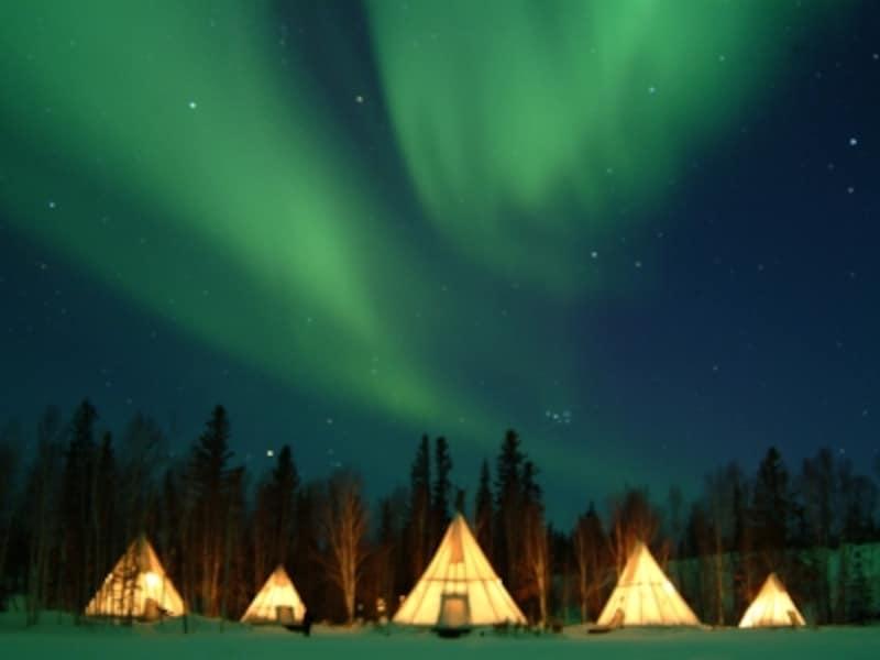 オーロラ=冬を連想させる写真(C)AuroraVillage
