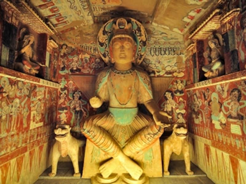 莫高窟第275窟の弥勒菩薩像