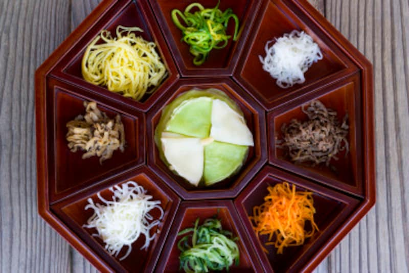野菜たっぷりの韓国の食習慣