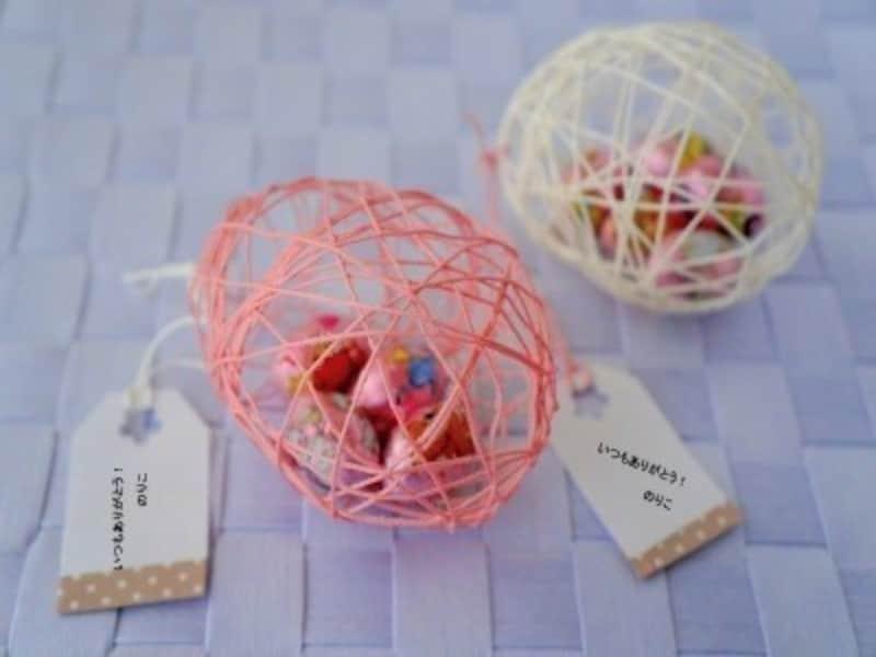 イースターエッグの作り方 風船とレース糸で作る