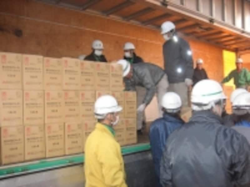 支援物資の輸送