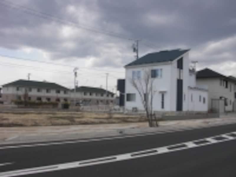 再建された住宅