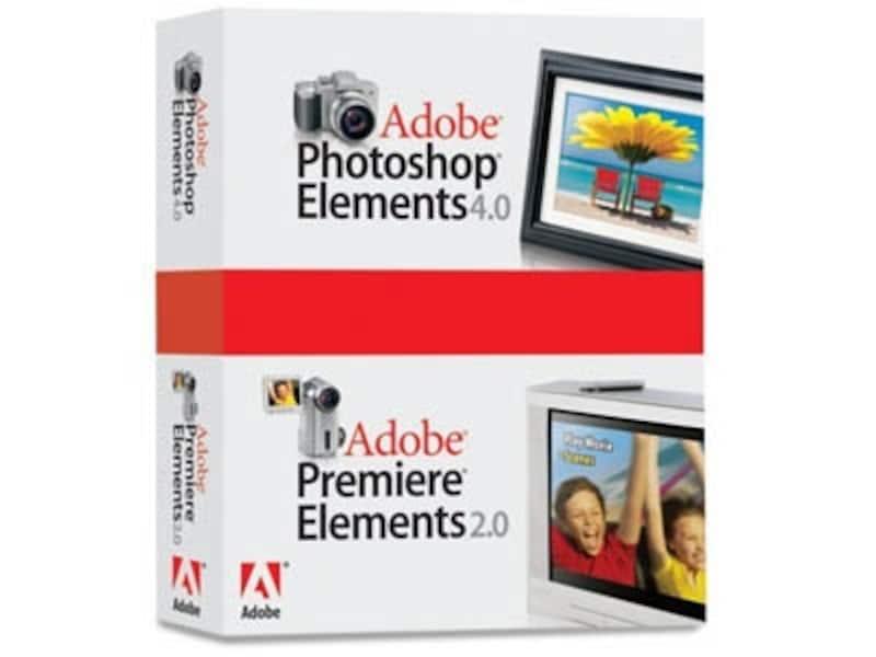 PhotoshopElementsとPremireのパッケージ