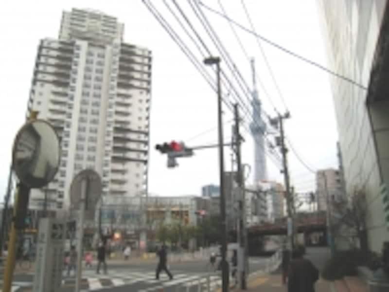 東武線曳舟駅近く
