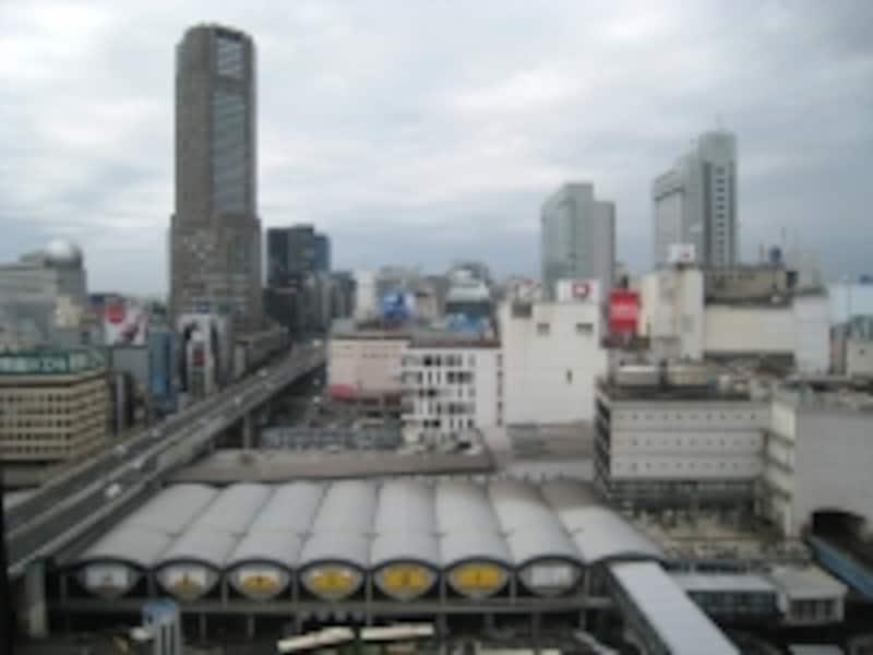渋谷駅を上から見たところ