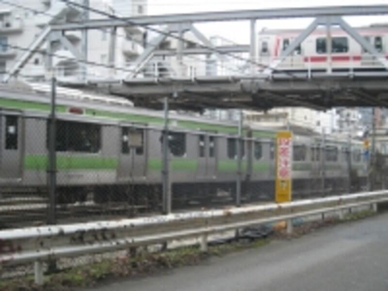 東横線とJRの高架