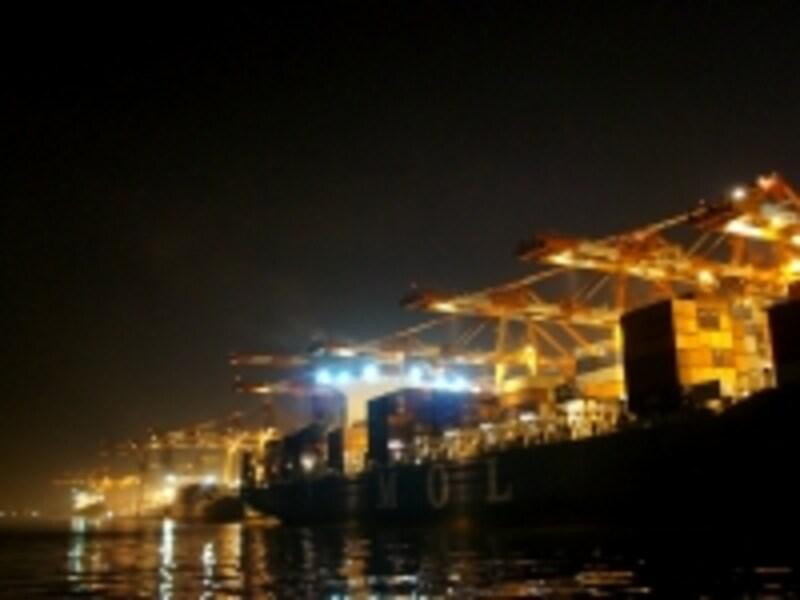 工場夜景の動き