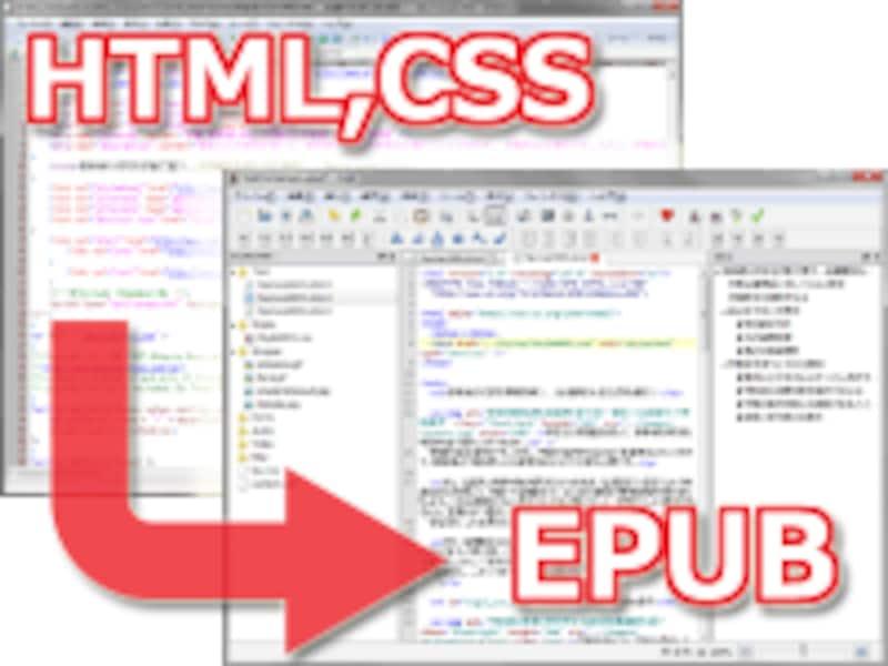 ウェブページのHTMLやCSS等を元にして、電子書籍(EPUB)を作成