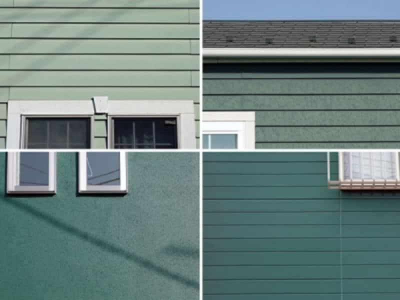 緑色系の外壁