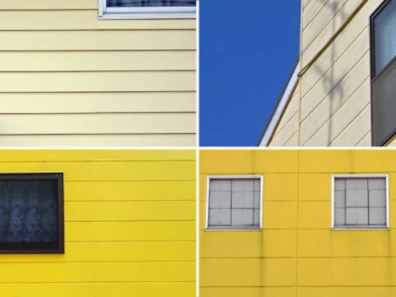 黄色系の外壁