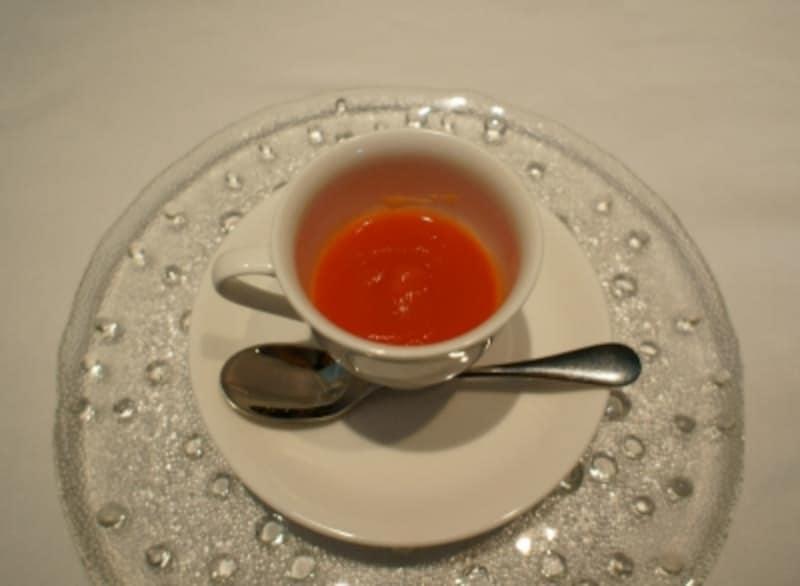 「京ニンジン」のスープ