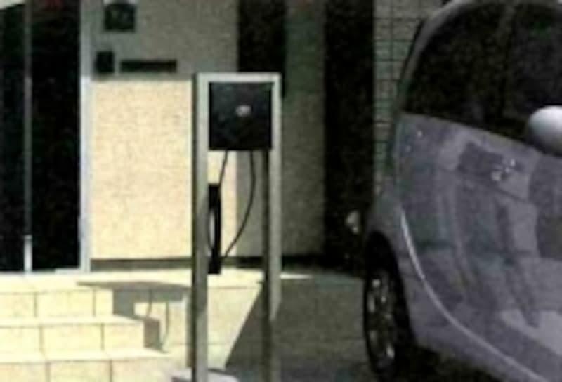 電気自動車充電スタンド(三協アルミ)