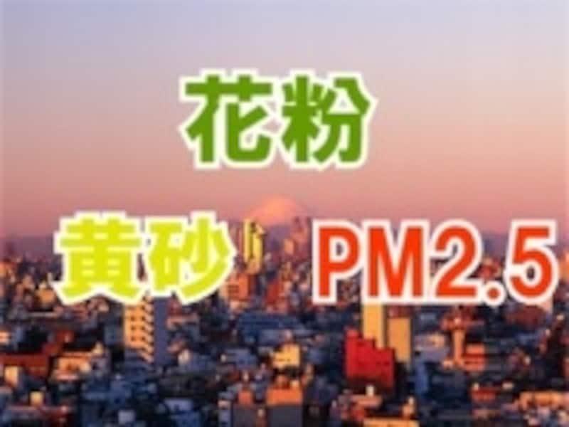 花粉・黄砂・PM2.5