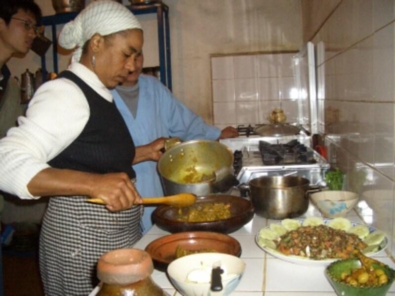ツアーに含まれていたお料理教室の様子