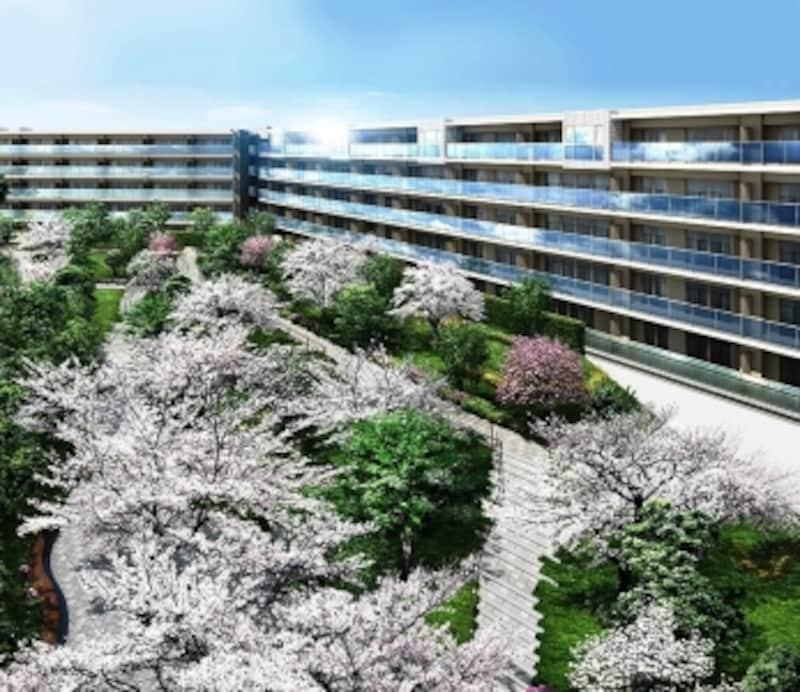 [ミソラシア横浜桜ヶ丘」外観完成予想図(※計画段階の図面を描き起こしたもので実際とは異なります)