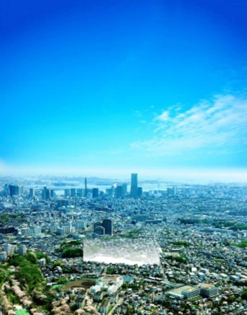 現地周辺航空写真(2012年4月撮影)