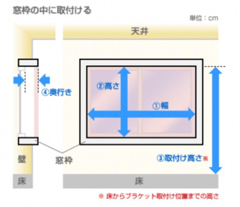 窓枠の中を測る