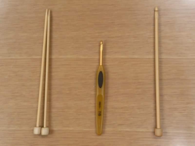 編み物の種類!棒針・かぎ針・アフガン針