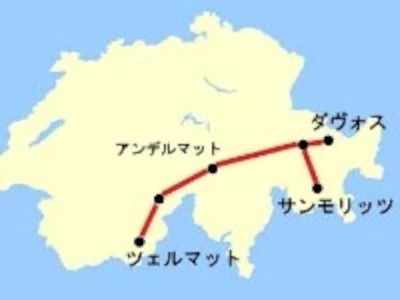 氷河特急マップ