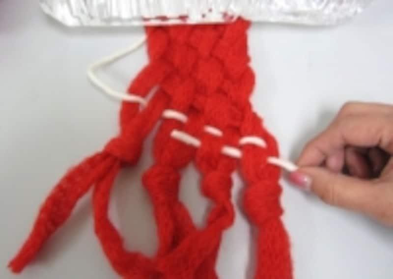 初めてのゆび織り