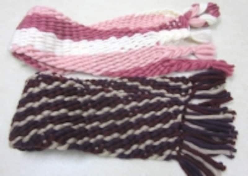 ゆび織りのストール