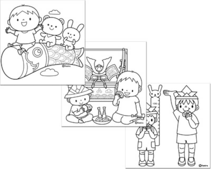 子供と動物のイラスト屋さん子供の日イラスト