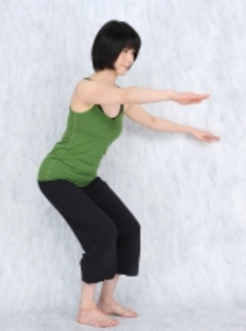 バタ腕をつけても体幹を安定よく使いましょう。