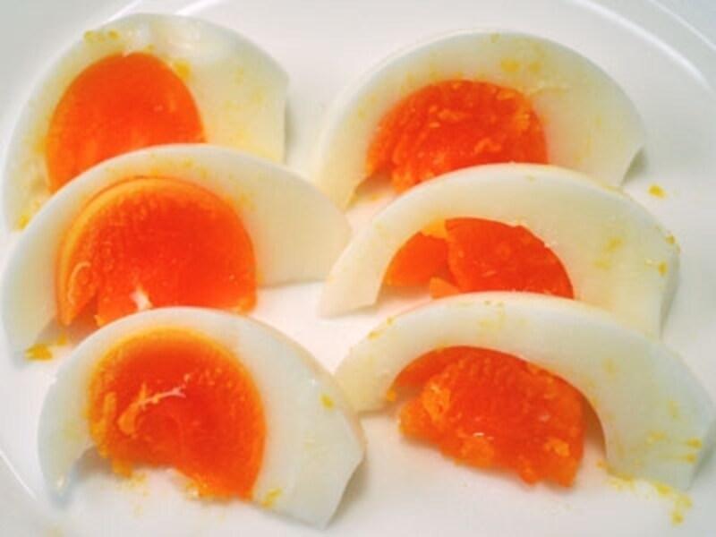 ゆで卵につけてみる
