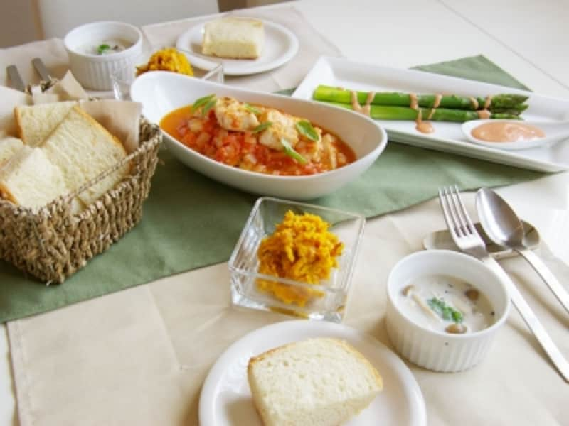 メカジキのトマト炒め定食