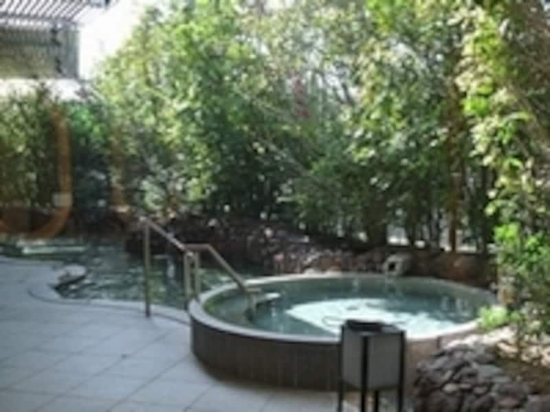 こちらが「庭のお風呂undefinedオリーブ」。※許可を得て撮影しています