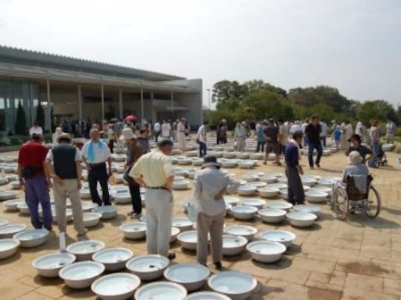 静岡県金魚品評大会の様子