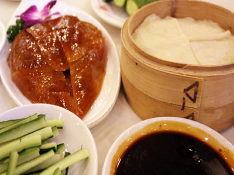 北京の北京ダックレストラン「九花山」
