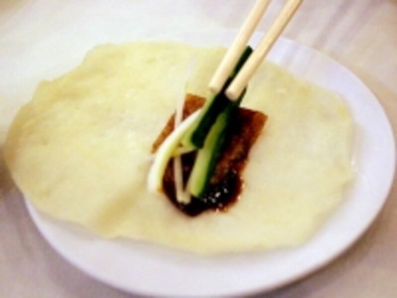 北京ダックの食べ方