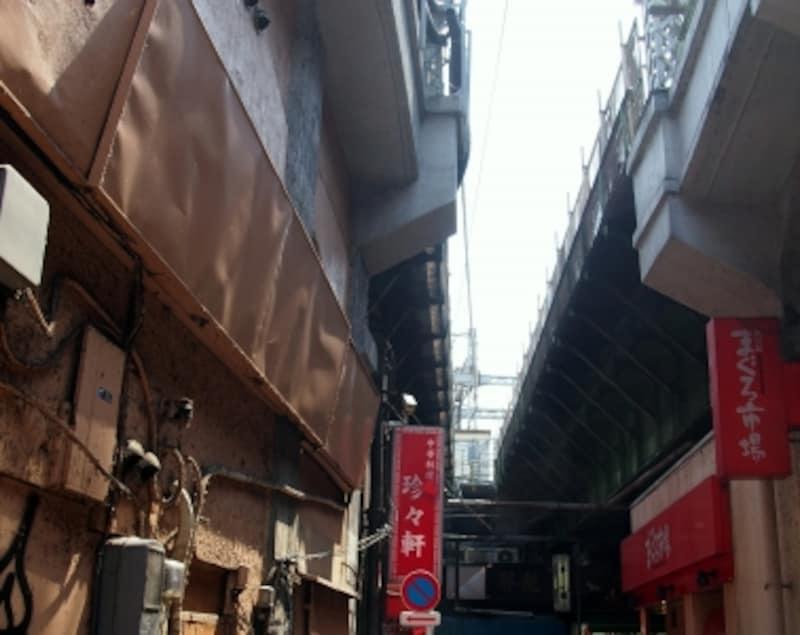京浜東北線の高架下にあるお店「珍珍軒」