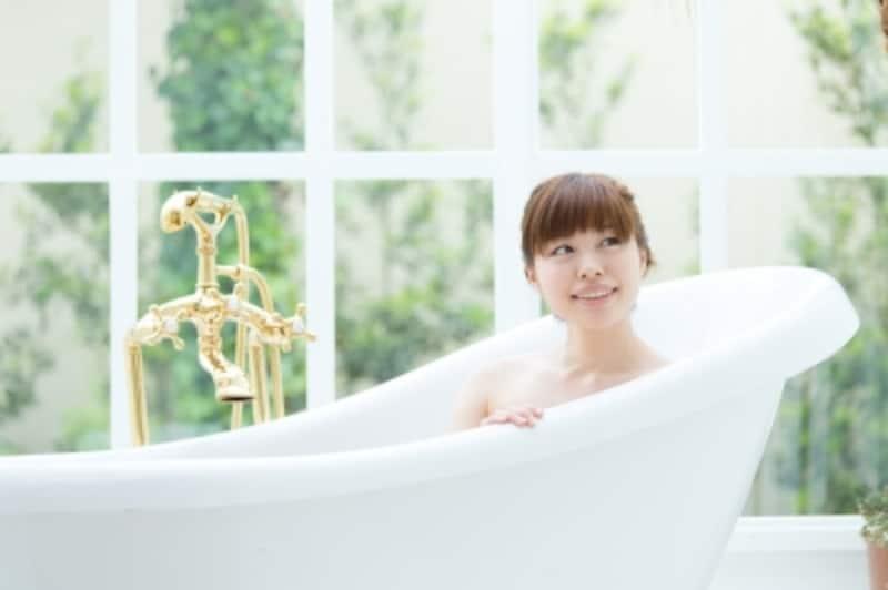 お風呂に入って体を温めて。