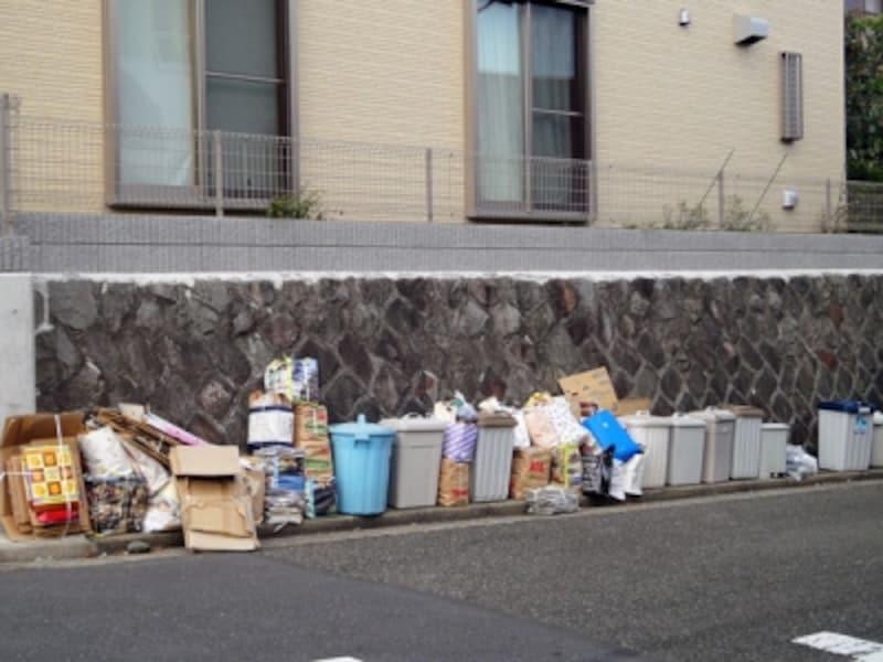 整理の行き届いたゴミ集積場所