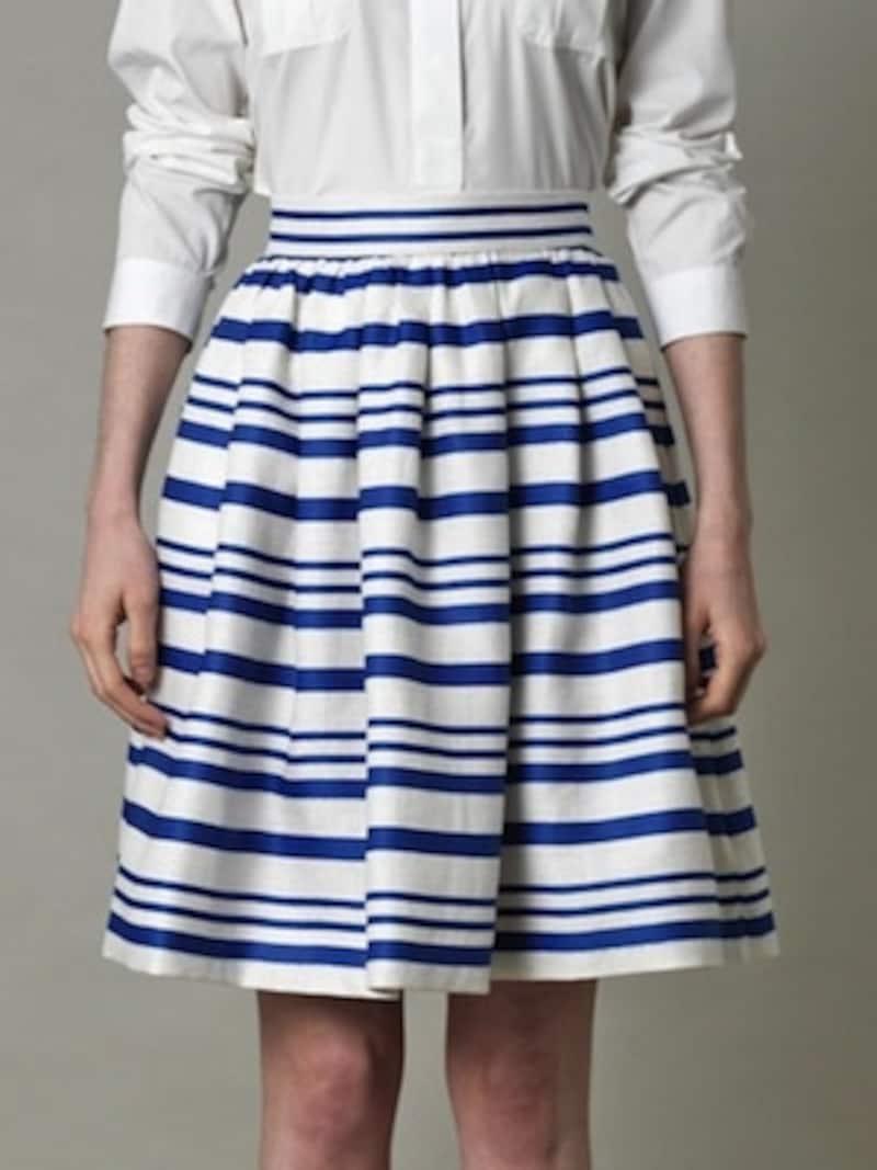 DOLCE&GABBANA(ドルチェ・アンド・ガッバーナ)/Stripefullpleatedskirt