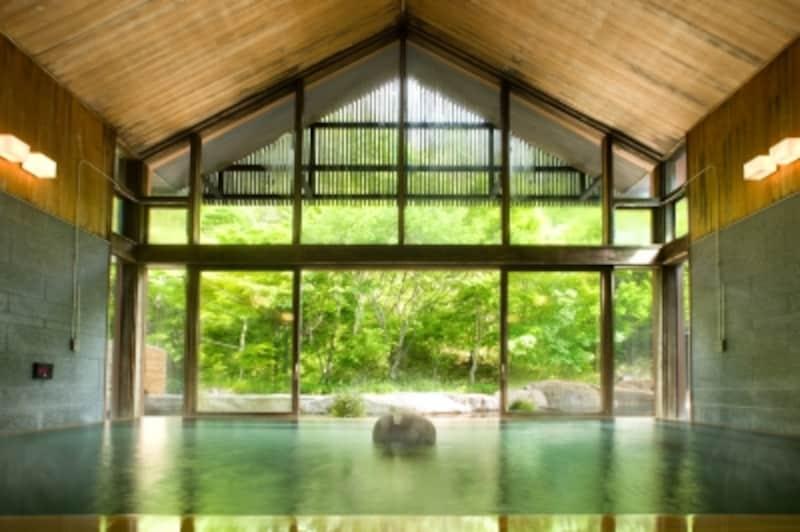 源泉かけ流しの立ち寄り湯「星野温泉トンボの湯」