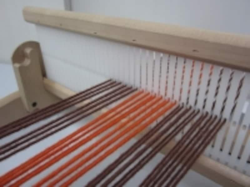 クローズドリードの卓上織機