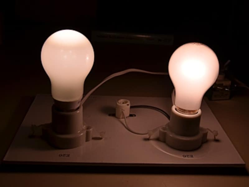 LED電球と白熱電球の比較