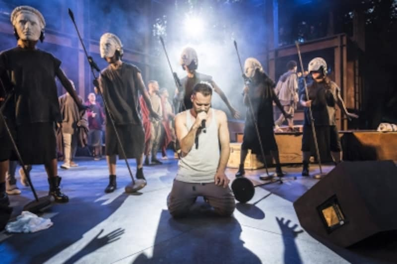 Declan Bennett as Jesus and Soldiers Photo Johan Persson