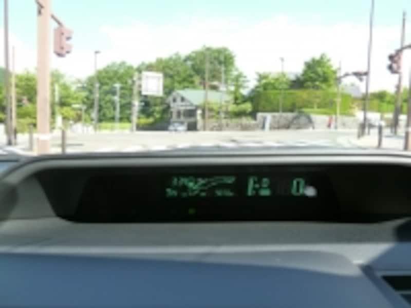 リッター35キロに迫るアクアの燃費計