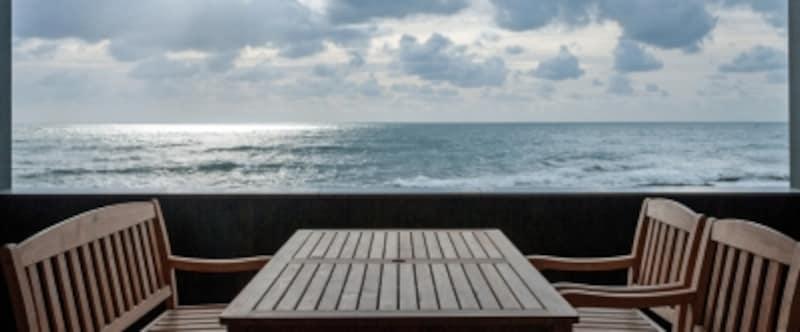 目の前に広がる太平洋(里海邸)