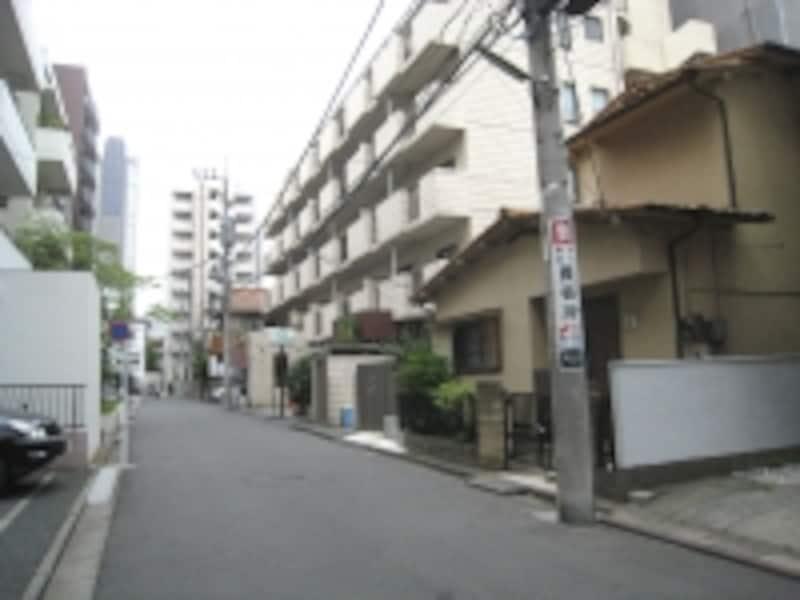 混在する住宅街