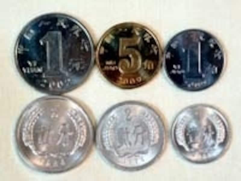 中国の通貨「人民元硬貨の種類」