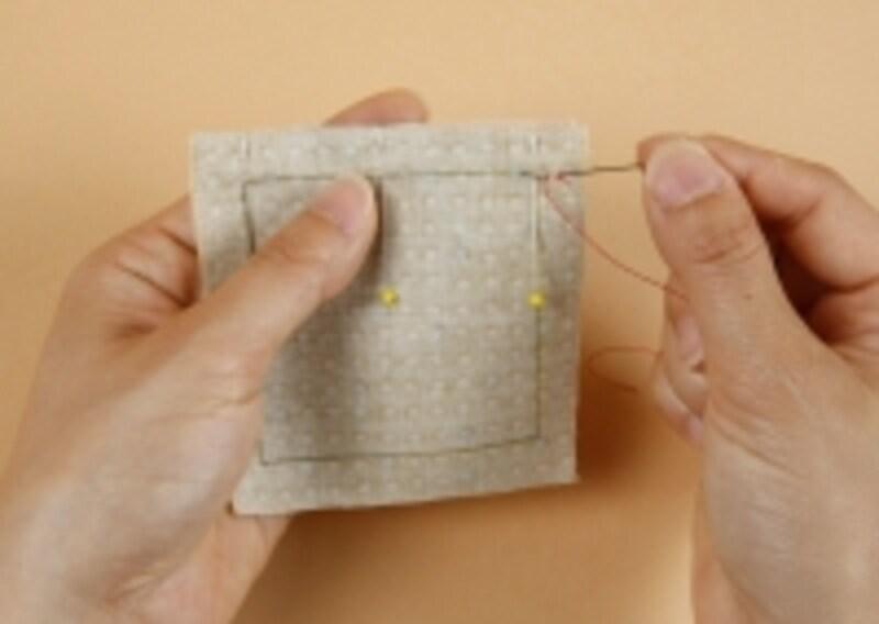 縫い始めは返し縫いを
